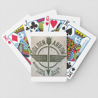 Vintage Golden Arrow Motorcycle Logo Bicycle Playing Cards