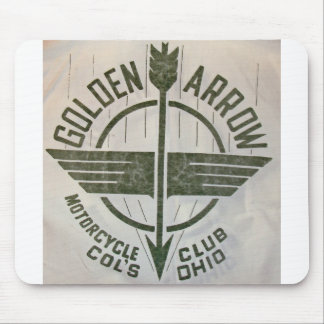 Vintage Golden Arrow Motorcycle Logo Mouse Pad