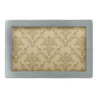 Vintage golden beige elegant victorian pattern rectangular belt buckles