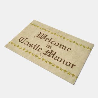 Vintage Golden Border Crown Lily + your backgr. Doormat