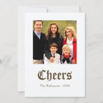 Vintage Golden Christmas Sheet Music Family photo Holiday Card
