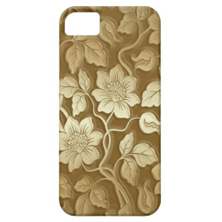 Vintage Golden Floral Print iPhone 5 Cover