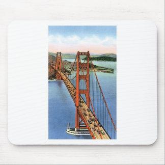 Vintage Golden Gate Bridge Mouse Pad