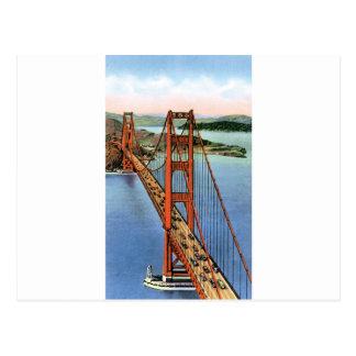 Vintage Golden Gate Bridge Postcard