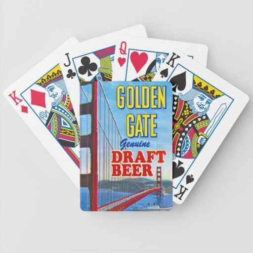 Vintage Golden Gate Draft Beer Playing Cards Bicycle Playing Cards