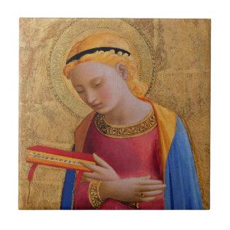 Vintage Golden Holy Figure Tile