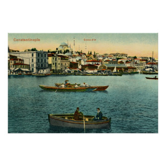 Vintage Golden Horn Constantinople ca 1900 Poster