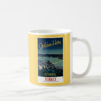 Vintage Golden Horn Istanbul Turkey travel Coffee Mug