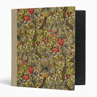 Vintage Golden Lilly Floral Design Binder