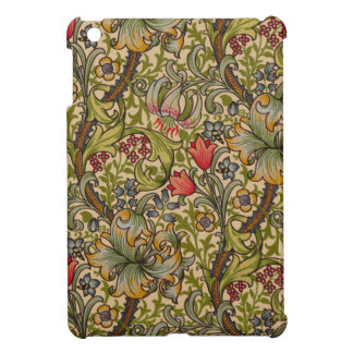 Vintage Golden Lilly Floral Design Cover For The iPad Mini