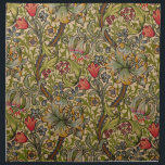 "Vintage Golden Lilly Floral Design Napkin<br><div class=""desc"">Antique Floral Wallpaper Golden Lilly by Dearle The Vintage Golden Lilly Floral pattern by 19th Century British wallpaper designer John Henry Dearle, working for the William Morris company, shows off a beautiful pattern of blue and red flowers, golden lilies, and green swirling leaves in a soft green and tan design....</div>"