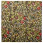 Vintage Golden Lilly Floral Design Napkins