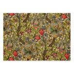 Vintage Golden Lilly Floral Design William Morris Large Business Cards (Pack Of 100)