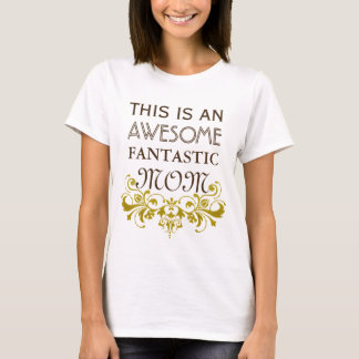 Vintage golden Ornaments I + your backgr. & text T-Shirt