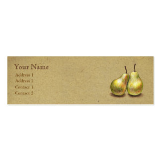 Vintage Golden Pears Custom Skinny Card Business Card Template