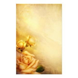 Vintage golden roses stationery