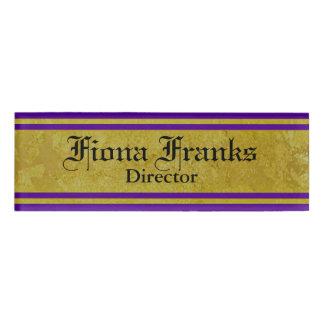Vintage Golden Stripes - violet + your ideas Name Tag
