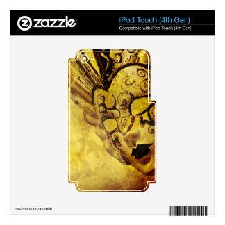 Vintage golden Venetian masks Skins For iPod Touch 4G