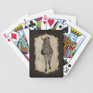 Vintage Golden White Zebra Card Deck