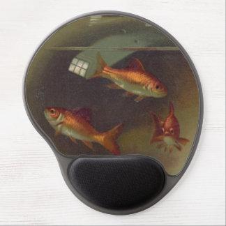 Vintage Goldfish Bowl Gel Mouse Pad