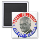 Vintage Goldwater retro 1964 para presidente Butto Imán Cuadrado