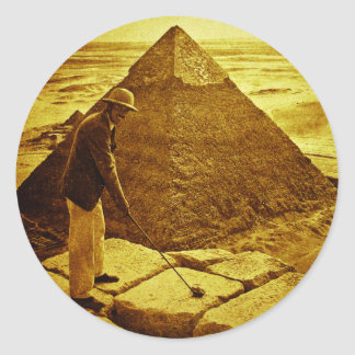 Vintage Golf at the Pyramids Classic Round Sticker