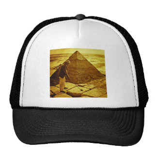 Vintage Golf at the Pyramids Funny Trucker Hat
