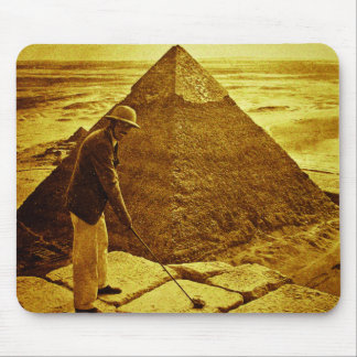 Vintage Golf at the Pyramids Mouse Pad