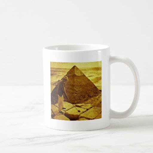 Vintage Golf at the Pyramids Classic White Coffee Mug