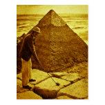 Vintage Golf at the Pyramids Post Card