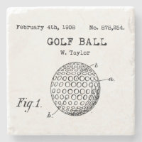 Vintage Golf Ball Coaster