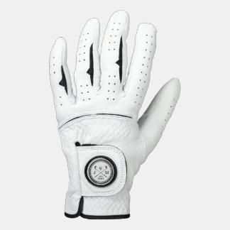 Vintage Golf Club Logo Monogram Golf Glove
