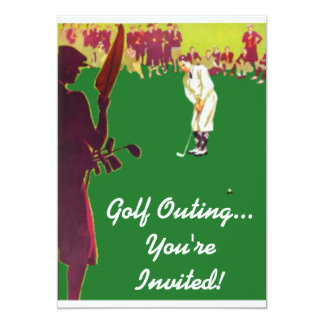 Vintage Golf Outing Invitations
