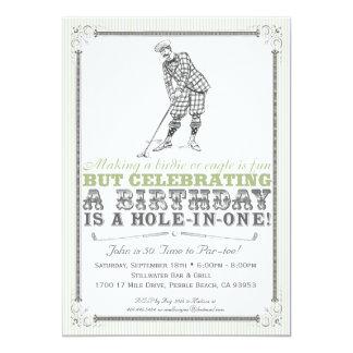 "Vintage Golf Party Invitation - Man 5"" X 7"" Invitation Card"