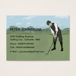 Vintage Golf player contact cards