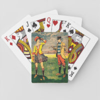 Vintage Golf Playing Cards, Standard Index faces Playing Cards
