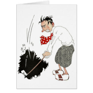 Vintage Golf Sports Humor, Funny Silly Golfer Card