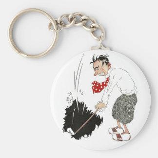 Vintage Golf Sports Humor, Funny Silly Golfer Keychain