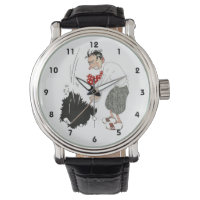 Vintage Golf Sports Humor, Funny Silly Golfer Wrist Watch