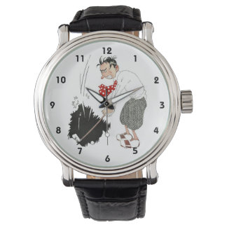 Vintage Golf Sports Humor, Funny Silly Golfer Wrist Watches