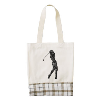 Vintage Golf Swing Zazzle HEART Tote Bag