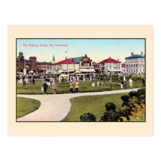 Vintage golf, the putting green Great Yarmouth Postcard