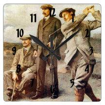 Vintage Golf Wall Clock