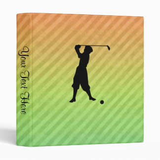 Vintage Golfer 3 Ring Binder