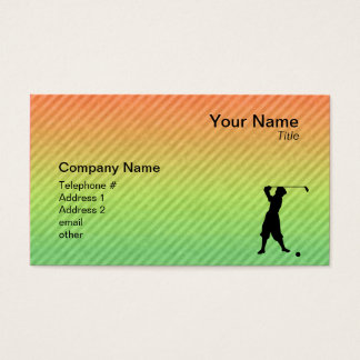 Vintage Golfer Business Card