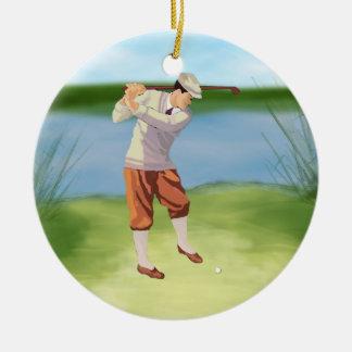 Vintage Golfer by Riverbank Christmas Ornament