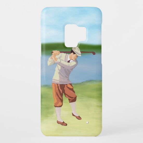 Vintage Golfer by the Riverbank Case-Mate Samsung Galaxy S9 Case