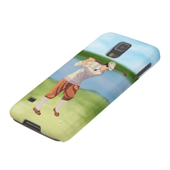 Vintage Golfer by the Riverbank Galaxy S5 Case
