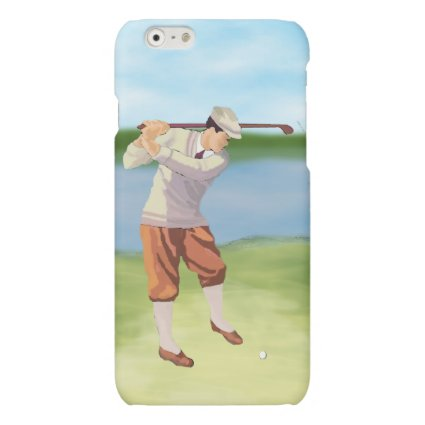 Vintage Golfer by the Riverbank Matte iPhone 6 Case