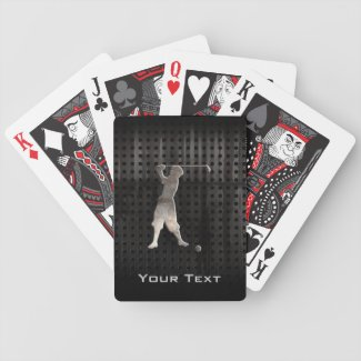 Vintage Golfer; Cool Bicycle Playing Cards